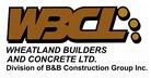 Wheatland Builders & Concrete Ltd. (WBCL) Jobs