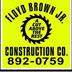 Floyd Brown Construction Jobs